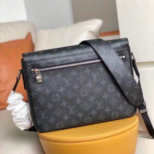 Túi đeo chéo Louis Vuitton like au hoạ tiết hoa phối da taiga TDCLV25