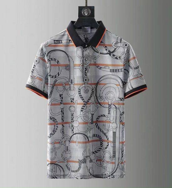 Áo phông Hermes siêu cấp họa tiết dây xích kẻ nhỏ APH05