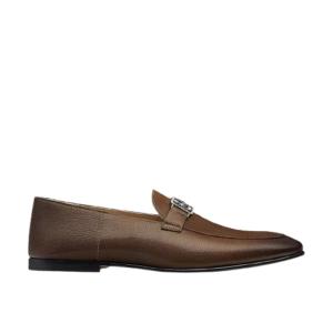 Giày lười Hermes like au đế cao họa tiết tuần lộc màu nâu GLH16
