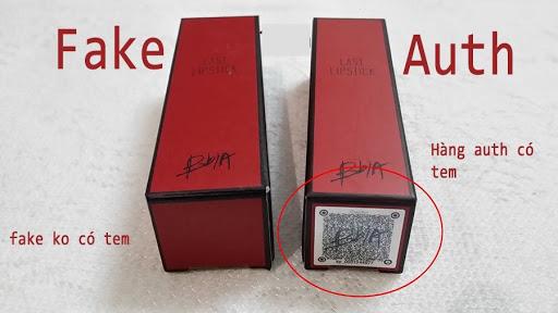 Hình ảnh mã code của hàng fake và hàng auth